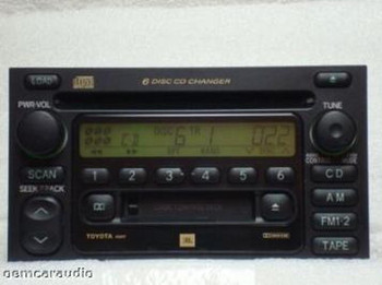 New Mechanism Toyota Radio Tape and 6 CD Changer 86120-08140 Sienna 2000 2001 2002 2003