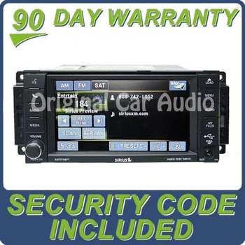 Remanufactured 2007 - 2013 JEEP DODGE CHRYSLER OEM MyGig Navigation Radio CD Player SAT Receiver RHB