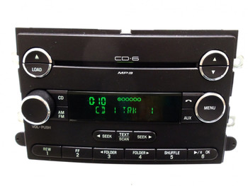 2006 - 2009 Ford FUSION Mercury MILAN Radio AUX MP3 6 Disc CD Changer WITH CLOCK