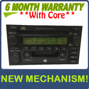 Re-manufactured Toyota Tundra JBL Radio Tape and 6 Disc CD Changer 86120-08130 2000 - 2003
