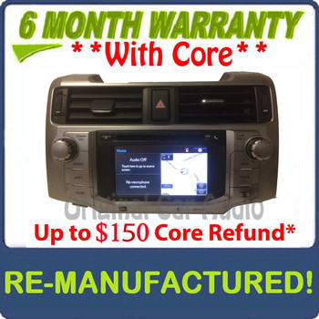 REMANUFACTURED 2014 - 2016 Toyota 4Runner OEM JBL Touch Screen Navigation Gracenote HD Radio Receiver