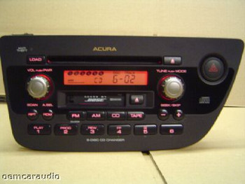 2002-2006 Acura RSX Radio Cassette 6 CD Player 1TJ3, 39100-S6M-6100, 39100 S6M 6100, 39100S6M6100