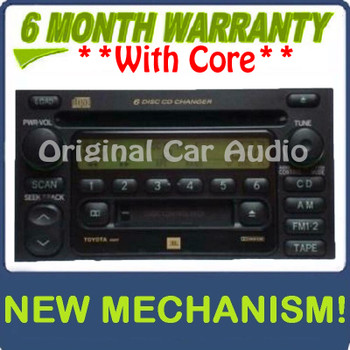 Remanufactured Toyota Radio Tape and 6 CD Changer 86120-08140 Sienna 2000 2001 2002 2003