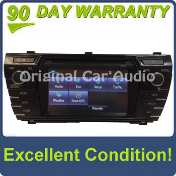 2014 2015 2016 TOYOTA COROLLA OEM HD AM FM XM Radio CD MP3 Player Touchscreen Bluetooth Receiver Backup Camera Compatiable