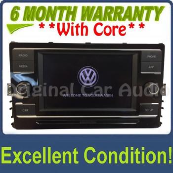 "2019 Volkswagen Jetta OEM 6.5"" Touchscreen Multi Media Radio Receiver w/ CARPLAY"