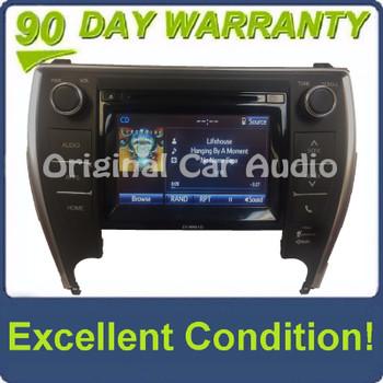 2015 - 2017 Toyota Camry OEM AM FM XM HD Touch Screen Radio Gracenote P11222