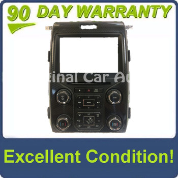 """2012 - 2014 Ford F150 OEM 8"""" Touch Screen Display Bezel and Radio Control Panel ONLY"""