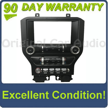 """2019  - 2020 Ford Mustang OEM 8"""" Radio Touch Screen Display Dual Zone Climate Control Panel BEZEL ONLY"""