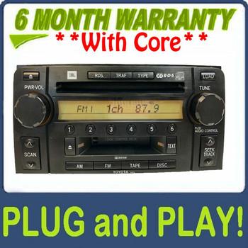 2003-2009 OEM Toyota 4Runner JBL Radio Tape Player 6 Disc CD Changer 86120-35201