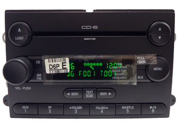 2007 Ford FREESTYLE 500 FIVE-HUNDRED Mercury MARINER MONTEGO OEM AM FM Radio AUX MP3 6 Disc CD Changer Player Stereo Receiver