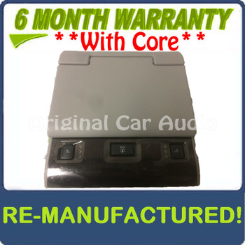 Remanufactured 2015 2016 2017 Chevy Cadillac GMC OEM Rear Entertainment Display Screen GRAY