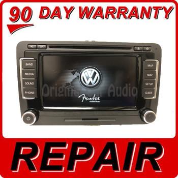 Repair Your  2010 - 2015 VW Volkswagen Fender OEM Navigation Radio CD Player Mainboard Repair Service