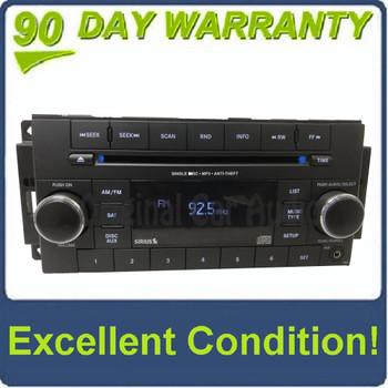 2007 - 2012 Chrysler Jeep Dodge OEM AM FM Radio CD Player RES BLUE