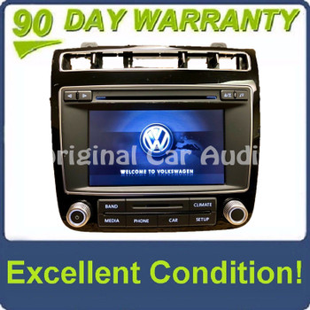 2015 Volkswagen Touareg OEM Touch Screen Sirius Radio Stereo 6 Disc Changer RCD-550