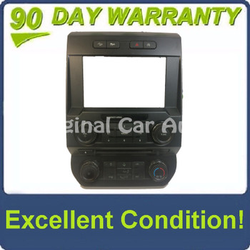 """2015 - 2018 Ford F150 OEM 8"""" Touch Screen Radio Control Climate Control w/o Heated Seat Options Bezel ONLY"""