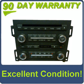 2008 - 2009 Lincoln MKS OEM Navigation Radio CD Climate Control Panel Assembly