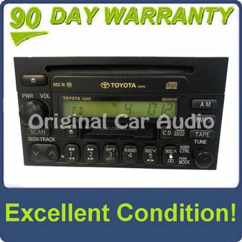1990 - 2004 TOYOTA 4Runner Avalon Camry Celica Mr2 Sequoia Solara Sienna Tacoma Tundra T100 OEM AM FM Radio Cassette Tape CD Player A56410 34243 Green LCD