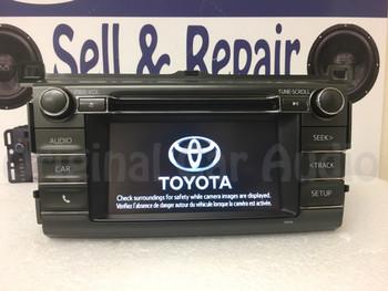 2013 - 2018 Toyota Rav4 AM FM Radio OEM Touchscreen Bluetooth Unit 100327 BLEMISHED