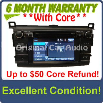 2013 - 2018 Toyota Rav4 AM FM Radio OEM Touchscreen Bluetooth Unit 100573