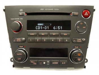 Blemished 2005 2006 SUBARU Legacy 2.5L 3.0L Radio Stereo 6 Disc Changer CD Player P-201UH Automatic Climate Controls