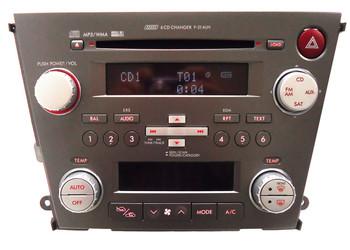 Blemished 2007 - 2008 Subaru Legacy OEM AM FM Radio MP3 6 CD Player Receiver P-204UH