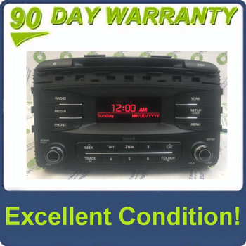 2015  - 2018 Kia Sorento OEM AM FM Radio Sat Bluetooth CD Player Receiver
