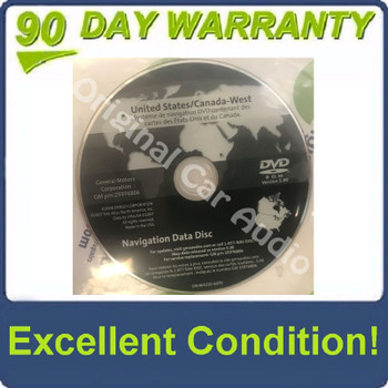 GM Satellite Navigation System GPS DVD Drive Disc 25976806 Version 5.0
