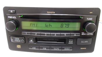 2003 - 2004 Toyota Tundra OEM AM FM Radio Tape CD Player Receiver 16836 16855