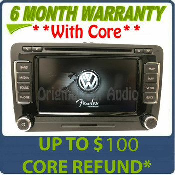 2010 - 2015 Volkswagen VW Jetta Passat OEM Fender Premium Sound RNS-510 Navigation GPS Touch Screen Radio Receiver (Blemishes)