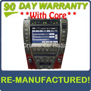 Remanufactured 2007 - 2009 Lexus ES350 OEM Navigation AM FM Radio 6 CD Changer Climate Control