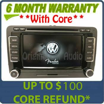 2010 - 2015 Volkswagen VW Jetta Passat OEM Fender Premium Sound RNS-510 Navigation GPS Touch Screen Radio Receiver (scratches)
