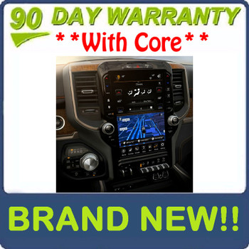 """NEW 2019 - 2020 Dodge Ram 1500 OEM Navigation Center Stack 12"""" Touch Screen Display Control Panel"""