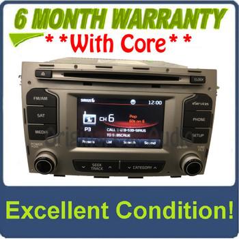 2014 - 2016 Kia Sportage OEM UVO Single CD Bluetooth Sat Multi Media Radio Receiver GREY