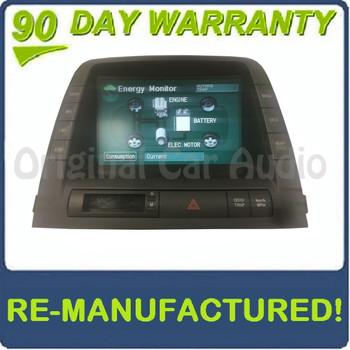 Reman 2004 - 2006 Toyota Prius OEM Information Energy Center Display Screen