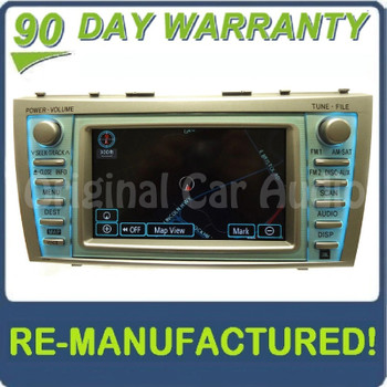 Reman 2007 - 2009 Toyota Camry OEM Navigation AM FM Radio Stereo JBL Display Touch Screen Receiver E7012