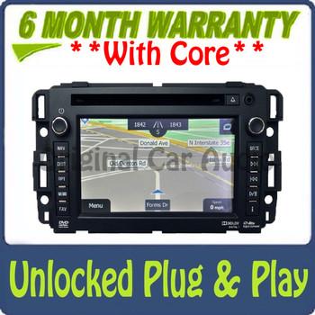UNLOCKED Reman 2012 2013 Chevy GMC OEM Navigation GPS XM Radio Bluetooth USB DVD AUX Stereo AM FM SAT