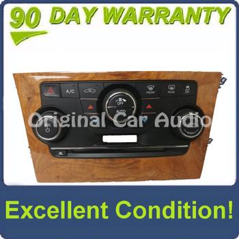 2012 - 2014 Chrysler 300 OEM A/C Climate Radio Control Light Woodgrain Panel