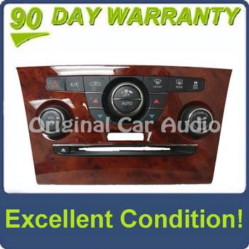 2012 - 2014 Chrysler 300 OEM A/C Climate Radio Control Dark Woodgrain Panel