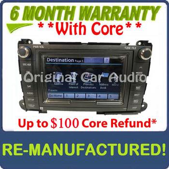 Remanufactured Toyota Sienna Navigation Radio CD Player Bluetooth E7027 JBL