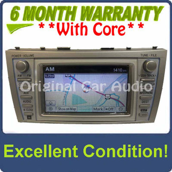 Remanufactured 2010 2011 10 11 TOYOTA Camry OEM JBL Navigation GPS System Radio Stereo 4 Disc Changer CD Player E7024 New Screen