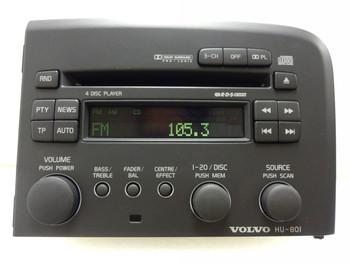 Volvo S80 Radio Stereo 4 Disc Changer CD  Player 1999 2000 2001 2002 2003 2004 HU-801