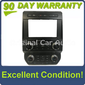 2019- 2020 Ford F-150 OEM Dual Heater AC Temp Radio Heated and Cooled Seat Control Bezel
