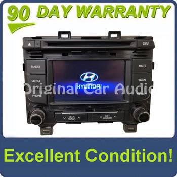 2015 - 2017 Hyundai Sonata AM FM XM MP3 Radio Receiver CD Player Display