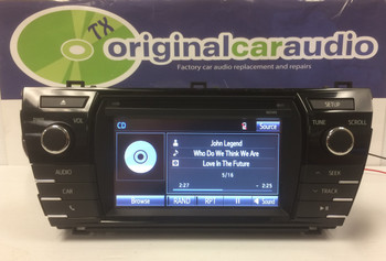 2014 2015 2016 TOYOTA COROLLA OEM HD AM FM XM Radio CD MP3 Player Touchscreen Bluetooth Receiver BLEMISHED