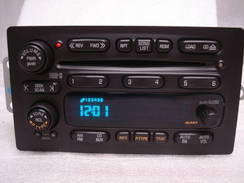 2002 - 2003 Buick Rendezvous RDS Radio & 6 CD Player