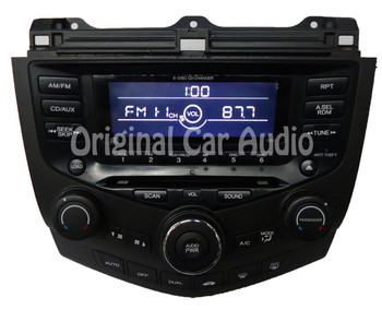 7BC0 2003 05 06 2007 Honda Accord Radio AUX 6 CD Changer
