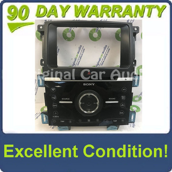 2011 - 2013 Ford Edge OEM Sony AM FM Radio CD Player Climate Control Panel Bezel Only