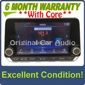 2020 - 2022 Nissan Sentra OEM Apple Car Play Android Auto AM FM Bluetooth Multi Media Radio Receiver