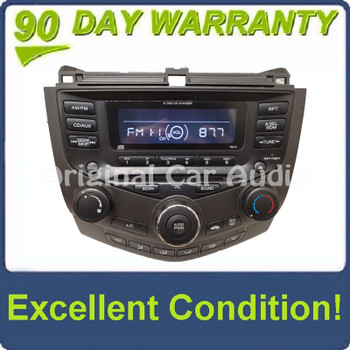 Honda Accord Radio AUX and 6  CD Changer LX EX 7BC0  39175-SDA-A110-M2 2003 2004 2005 2006 2007 FACEPLATE ONLY