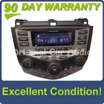 2003 - 2007 Honda Accord Radio AUX and 6  CD Changer LX EX 7BC1  39175-SDA-A120-M2 Faceplate ONLY